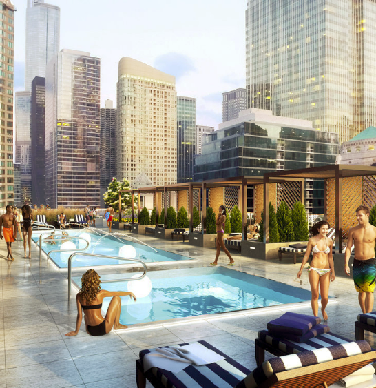 River North, Rentals, Rooftop Pool