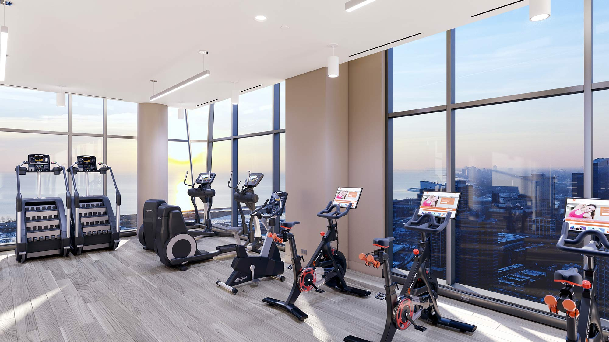 Fitness room at the Paragon